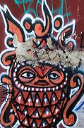 "Street art, possibly by the artist known as ""Begor,"" Oaxaca."