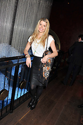 SABINE ROEMER at the ZEO 'Just January' Party held at the Buddha Bar, 145 Knightsbridge, London SW1 on 31st January 2013.