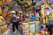 Tourists just off a cruise ship join in the carnival at Prince George Wharf, Nassau, Bahamas, Caribbean