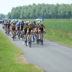 WIJSTER (NED) June 19: <br /> CYCLING <br /> Dutch Nationals Road WOMEN up and around the Col du VAM<br /> Peloton during the race