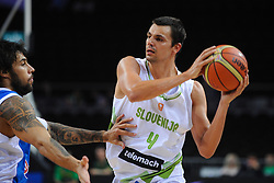 Georgios Printezis of Greece vs Jure Balazic of Slovenia during friendly match between National Teams of Slovenia and Greece before World Championship Spain 2014 on August 17, 2014 in Kaunas, Lithuania. Photo by Robertas Dackus / Sportida.com