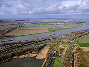 Nederland, Zuid-Holland, Dordrecht, 25-02-2020; Oostelijke ingang HSL-tunnel onder de Dordtsche Kil, gezien naar de Hoeksche Waard. Parallel aan het water de A16 naar Dordrecht.<br /> Eastern entrance HSL tunnel under the Dordtsche Kil, seen towards the Hoeksche Waard. <br /> luchtfoto (toeslag op standard tarieven);<br /> aerial photo (additional fee required)<br /> copyright © 2020 foto/photo Siebe Swart