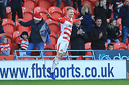 GOAL Crawford celebrates scoring 2-0 during the EFL Sky Bet League 1 match between Doncaster Rovers and Rochdale at the Keepmoat Stadium, Doncaster, England on 1 January 2019.