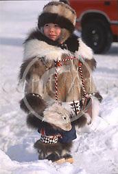 Alaska. Barrow. Spring festival Piuraagiaqta. Native dressing competition.