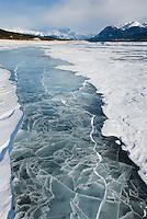 Abraham Lake in winter, Alberta Canada