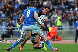 November 24, 2018 - Rome, Rome, Italy - Sebastian Negri and Anton Lienert-Brown during the Test Match 2018 between Italy and New Zealand at Stadio Olimpico on November 24, 2018 in Rome, Italy. (Credit Image: © Emmanuele Ciancaglini/NurPhoto via ZUMA Press)
