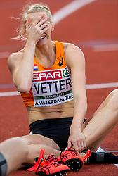 08-07-2016 NED: European Athletics Championships day 3, Amsterdam<br /> Anouk Vetter gaat na dag 1 aan de leiding in de zevenkamp
