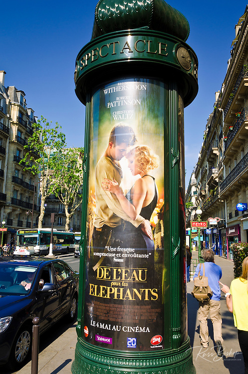 American movie ad, Boulevard Saint-Germain, Left Bank, Paris, France