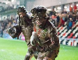 Half time entertainment at Rodney Parade<br /> <br /> Photographer Simon King/Replay Images<br /> <br /> Guinness Pro14 Round 12 - Dragons v Cardiff Blues - Sunday 31st December 2017 - Rodney Parade - Newport<br /> <br /> World Copyright © 2017 Replay Images. All rights reserved. info@replayimages.co.uk - http://replayimages.co.uk