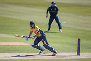 Stephen Cook (Durham CCC) watches his ball speed to the boundary during the Royal London 1 Day Cup match between Yorkshire County Cricket Club and Durham County Cricket Club at Headingley Stadium, Headingley, United Kingdom on 3 May 2017. Photo by Mark P Doherty.