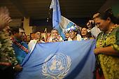 Tahiti French Polynesia: Oscar Temaru and supporters