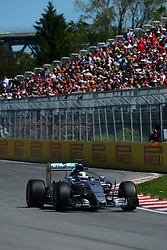 06.06.2015, Circuit Gilles Villeneuve, Montreal, CAN, FIA, Formel 1, Grand Prix von Kanada, Qualifying, im Bild Lewis Hamilton (GBR) Mercedes AMG F1 W06 // during Qualifyings of the Canadian Formula One Grand Prix at the Circuit Gilles Villeneuve in Montreal, Canada on 2015/06/06. EXPA Pictures © 2015, PhotoCredit: EXPA/ Sutton Images/ Patrick Vinet<br /> <br /> *****ATTENTION - for AUT, SLO, CRO, SRB, BIH, MAZ only*****
