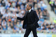 Brighton Manager, Chris Hughton during the EFL Sky Bet Championship match between Brighton and Hove Albion and Blackburn Rovers at the American Express Community Stadium, Brighton and Hove, England on 1 April 2017.
