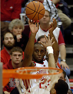 PHOTO BY DAVID RICHARD.Ohio State's Je'Kel Foster makes one of his six, 3-point goals Sunday in the second half against Big Ten rival Illinois.
