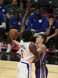 October 12, 2017 - Los Angeles, California, U.S - Bogdan Bogdanovic #8 of the Sacramento Kings puts up a shot during their preseason game against the Los Angeles Clippers on Thursday October 12, 2017 at the Galen Center in USC in Los Angeles, California. Clippers defeat Kings, 104-87. (Credit Image: © Prensa Internacional via ZUMA Wire)