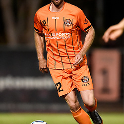 BRISBANE, AUSTRALIA - NOVEMBER 3: James Meyer of Eastern Suburbs in action during the NPL Queensland Senior Mens Round 9 match between Eastern Suburbs FC and Gold Coast Knights at Heath Park on November 3, 2020 in Brisbane, Australia. (Photo by Patrick Kearney)