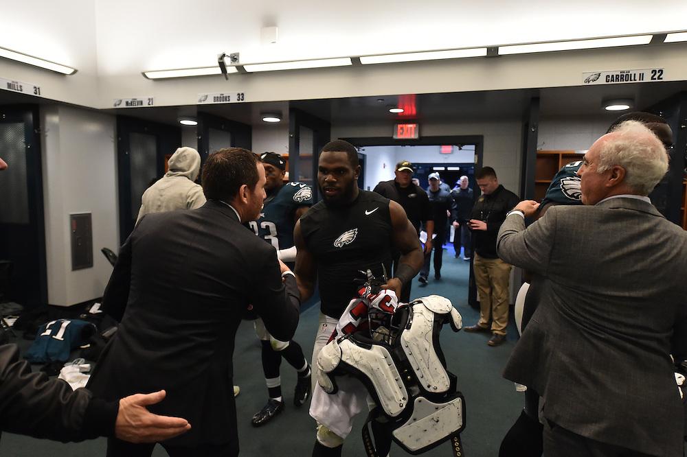 The Philadelphia Eagles defeated the Atlanta Falcons 24-15 at Lincoln Financial Field on November 13, 2016 in Philadelphia, Pennsylvania.  (Photo by Drew Hallowell/Philadelphia Eagles)