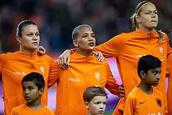 05-04-2019 NED: Netherlands - Mexico, Arnhem<br /> Friendly match in GelreDome Arnhem. Netherlands win 2-0 / Sherida Spitse #8 of The Netherlands, Shanice van de Sanden #7 of The Netherlands, Anouk Dekker #6 of The Netherlands