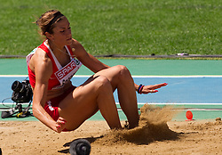 Ivana Spanovic of Serbia competes in the Womens Long Jump Qualifying during day one of the 20th European Athletics Championships at the Olympic Stadium on July 27, 2010 in Barcelona, Spain. (Photo by Vid Ponikvar / Sportida)