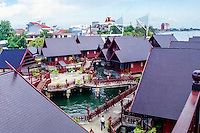 South Sulawesi, Makassar. Hotel at the waterfront in Makassar.