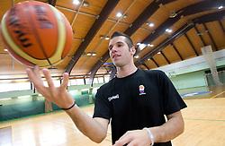 Sani Becirovic at practice session of Slovenia basketball team on media day on July 16, 2010 at Rogla sports center, Slovenia. (Photo by Vid Ponikvar / Sportida)