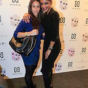 NLD/Amsterdam/20130205 - Modeshow Nikki Plessen 2013, Sylvana Simons en dochter Levi