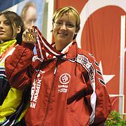 2. WOMEN'S WORLD BOXING CHAMPIONSHIPS.<br /> Denmark's Tina Hansen  (N) bronz medal. Dilek Sabanci Sport Hall Antalya/Turkey<br /> Photo by Aykut AKICI/TurkSporFoto