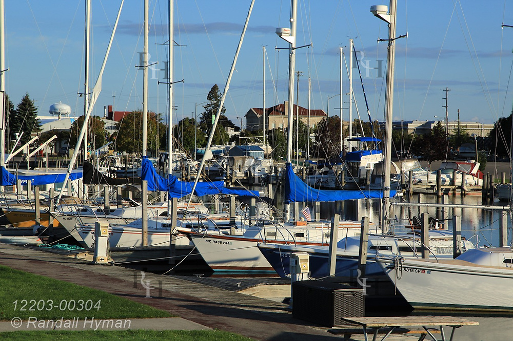 Yacht marina on a September afternoon in Alpena, Michigan.