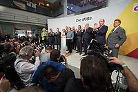24 SEP 2017, BERLIN/GERMANY:<br /> Angela Merkel (M), CDU, Bundeskanzlerin, eingerahmt von Monika Gruetters, Armin Laschet, Thomas de Maiziere, Ursula von der Leyen, Jens Spahn, Volker Kauder, Karl-Josef Laumann, Guenther Oettinger, Peter Altmeier, Dr. Philipp Murmann, Elmar Brok, (v.L.n.R.), Wahlparty in der Wahlnacht, Bundestagswahl 2017, Konrad-Adenauer-Haus, CDU Bundesgeschaeftsstelle<br /> IMAGE: 20170924-01-0<br /> KEYWORDS: Election Party, Election Night