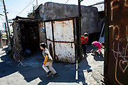 Children playing in the Kond District in  Yerevan, Armenia. April 23, 2016.