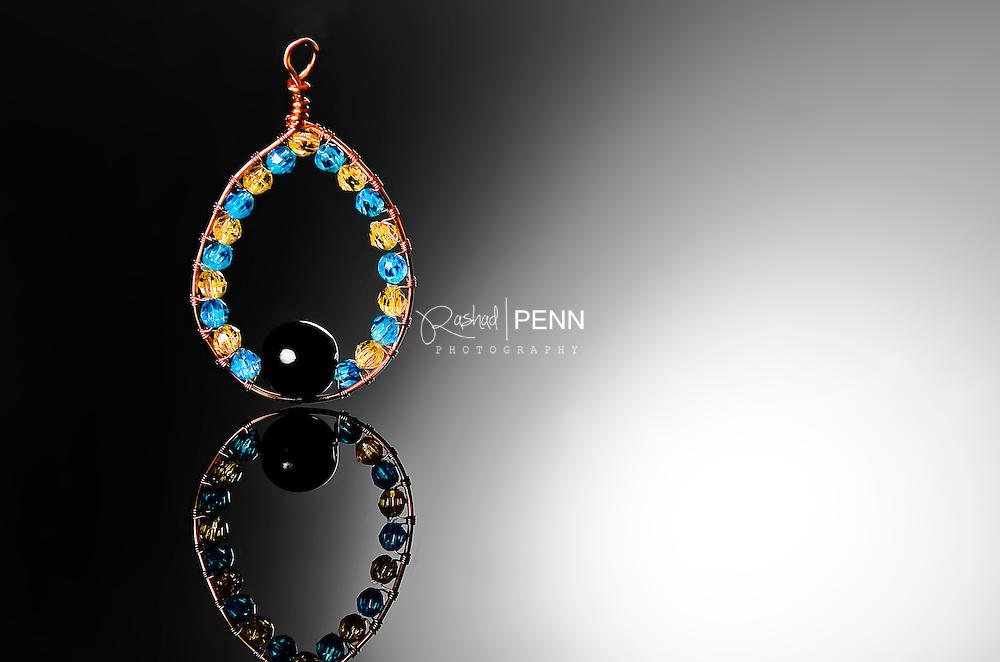 Bahamian color earring, creative product photography. Bahamas Product Photography