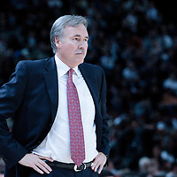06 October 2010: New York Knicks coach Mike D'Antoni is seen during the Minnesota Timberwolves 106-100 victory over the New York Knicks, during 2010 NBA Europe Live, at the POPB Arena in Paris, France.