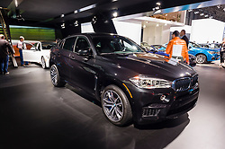 NEW YORK, USA - MARCH 23, 2016: BMW X6 M on display during the New York International Auto Show at the Jacob Javits Center.