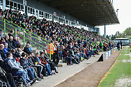 The East stand during the EFL Sky Bet League 2 match between Forest Green Rovers and Exeter City at the New Lawn, Forest Green, United Kingdom on 4 May 2019.