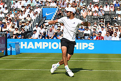 June 20, 2017 - London, United Kingdom - Jordan Thompson (AUS) against Andy Murray GBR  during Round One match on the second day of the ATP Aegon Championships at the Queen's Club in west London on June 20, 2017  (Credit Image: © Kieran Galvin/NurPhoto via ZUMA Press)