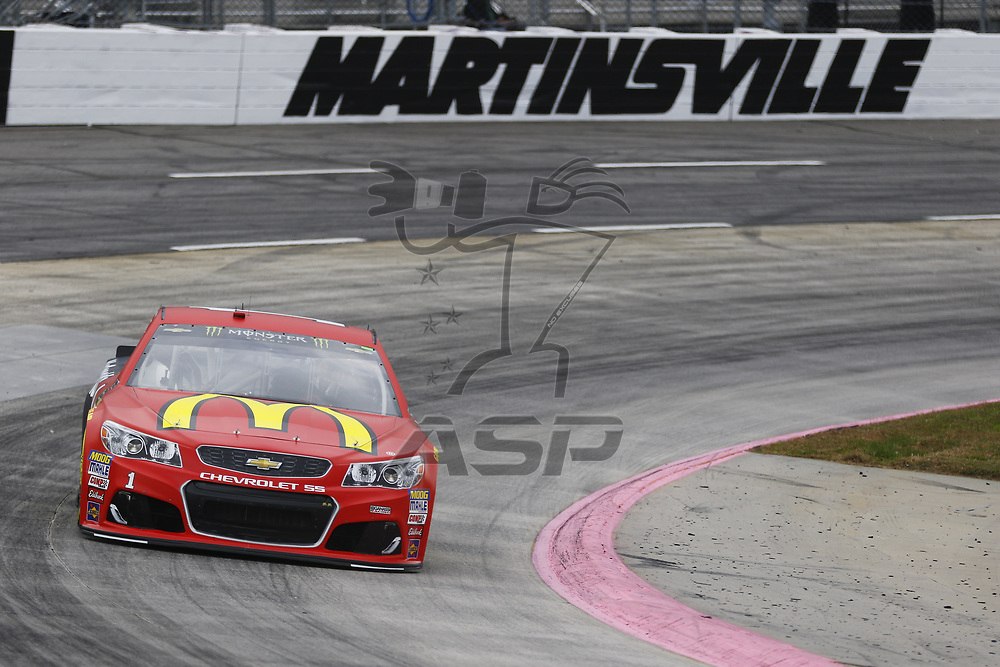 October 28, 2017 - Martinsville, Virginia, USA: Jamie McMurray (1) brings his car through the turns during practice for the First Data 500 at Martinsville Speedway in Martinsville, Virginia.