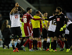 Bradley Johnson of Derby County applauds the fans at the final whistle - Mandatory byline: Jack Phillips / JMP - 07966386802 - 21/11/2015 - FOOTBALL - The iPro Stadium - Derby, Derbyshire - Derby County v Cardiff City - Sky Bet Championship