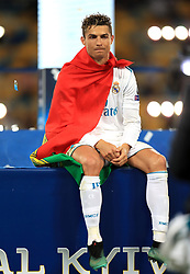 Real Madrid's Cristiano Ronaldo celebrates after winning the UEFA Champions League Final at the NSK Olimpiyskiy Stadium, Kiev.