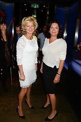 Left to right, ALISON JACKSON and KAREN MANBARK at the launch of Dim Sum Sundays by Hakkasan at Hakkasan, Hanway Place, London on 8th September 2013.