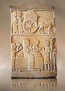 Marble Anatolian Persian Funerary Stele, 5th cent. B.C, from Dascyleium ( Ergili, Manyas ) Turkey.  Istanbul Archaeological museum Inv 5763 T.
