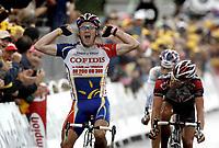 Sykkel<br /> Tour de France 2004<br /> Foto: PhotoNews/Digitalsport<br /> NORWAY ONLY<br /> <br /> 08.07.2004<br /> <br /> ETAPE 05 / RIT 5  AMIENS / CHARTRES<br /> <br /> Stuart O'Grady (Cofidis)