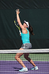 March 23, 2018 - Key Biscayne, Florida, United States Of America - KEY BISCAYNE, FL - MARCH 23: Johanna Konta on the practice court on day 5 of the Miami Open at Crandon Park Tennis Center on March 23, 2018 in Key Biscayne, Florida. ...People:  Johanna Konta. (Credit Image: © SMG via ZUMA Wire)