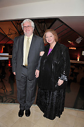 Costa Novel Award Winner and Winner of the 2012 Costa Book Award HILARY MANTEL and her husband GERALD McEWEN at the Costa Book Awards 2012 held at Quaglino's, 16 Bury Street, London SW1 on 29th January 2013.
