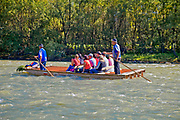 The Dunajec River Gorge, the main tourist attraction of the Pieniny National Park, Poland, <br /> Spływ Dunajcem, Polska