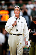 SHOT 1/28/12 3:57:15 PM - Recently appointed Colorado State athletic director Jack Graham during halftime against San Diego State during their regular season Mountain West conference basketball game at Moby Arena in Fort Collins, Co. Colorado State upset 12th ranked San Diego State 77-60. Graham was a former Colorado State quarterback and successful local businessman.(Photo by Marc Piscotty / © 2012)