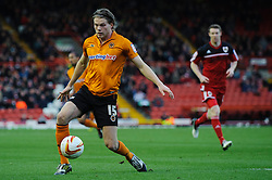 Wolves Forward Bjorn Bergmann Sigurdarson (ISL) in action during the first half of the match - Photo mandatory by-line: Rogan Thomson/JMP - Tel: Mobile: 07966 386802 01/12/2012 - SPORT - FOOTBALL - Ashton Gate - Bristol. Bristol City v Wolverhampton Wanderers - npower Championship.