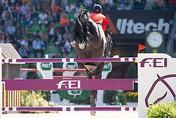 Beezie Madden, (USA), Cortes C - First Round Team Competition Jumping Speed - Alltech FEI World Equestrian Games™ 2014 - Normandy, France.<br /> © Hippo Foto Team - Leanjo De Koster<br /> 03-09-14
