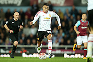 Jesse Lingard of Manchester United in action The Emirates FA cup, 6th round replay match, West Ham Utd v Manchester Utd at the Boleyn Ground, Upton Park  in London on Wednesday 13th April 2016.<br /> pic by John Patrick Fletcher, Andrew Orchard sports photography.