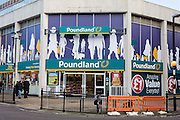 The Poundland shop, Peterborough, Cambridgeshire. UK