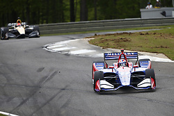 April 23, 2018 - Birmingham, Alabama, United States of America - ALEXANDER ROSSI (27) of the United States battles for position through the turns during the Honda Grand Prix of Alabama at Barber Motorsports Park in Birmingham, Alabama. (Credit Image: © Justin R. Noe Asp Inc/ASP via ZUMA Wire)